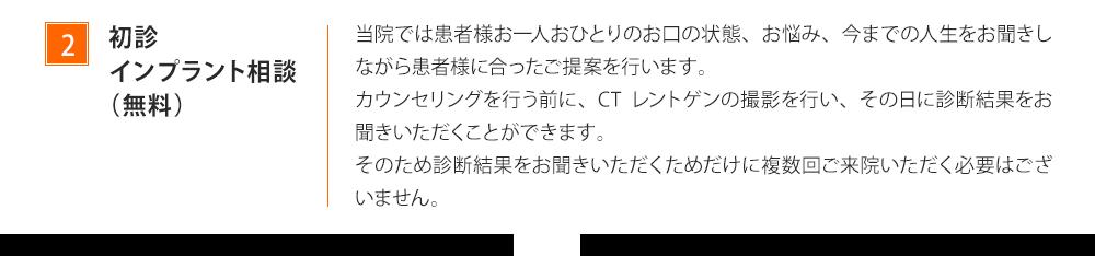 初診インプラント相談(無料)